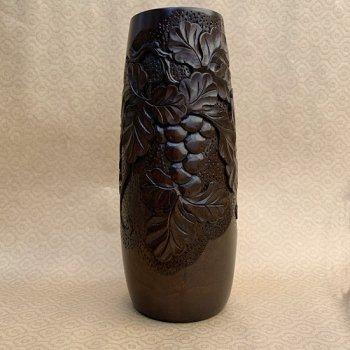花瓶(細・大)ーぶどう