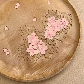 栃丸盆 27(庄川挽物+)彩色