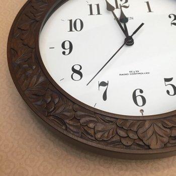 丸時計(電波時計)ブドウ柄
