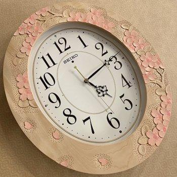 楕円時計 彩色(電波時計)
