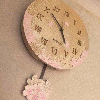 栃丸振り子時計(彩色)