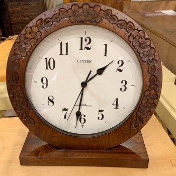 丸時計(電波時計・置き掛け兼用)