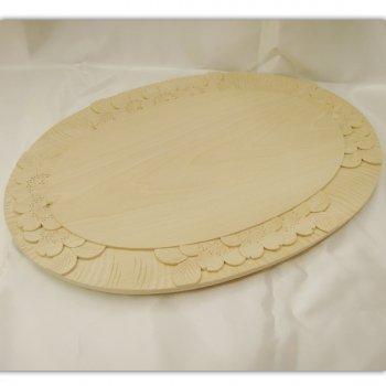 桜柄のパン切り台(木製カッティング・ボード)