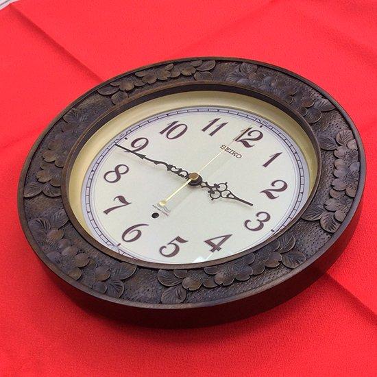 精工舎・大型丸時計・昭和初期の八日まき掛時計 - アンティーク時計専門店 時計屋なかの