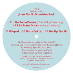 [USED] Daniel Wang - The Look Ma No Drum Machine EP (2020 Edition)