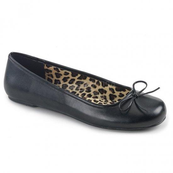 取寄せ靴 新品 かわいい アニマル柄 ぺたんこ パンプス フラット 黒 ブラック フェイクレザー 大きいサイズ…
