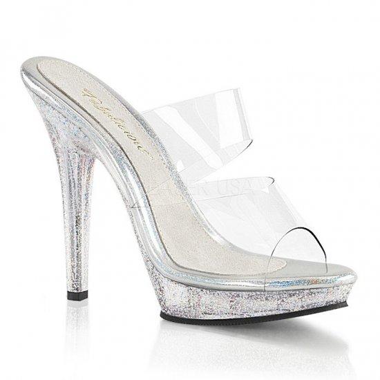 取寄せ靴 新品 キラキラ ラメ ダブルストラップ 薄厚底サンダル 12.5cmピンヒール クリア 大きいサイズあり