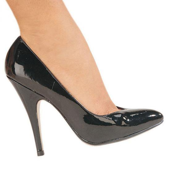 7 inch black heel less peep toe platforms 9