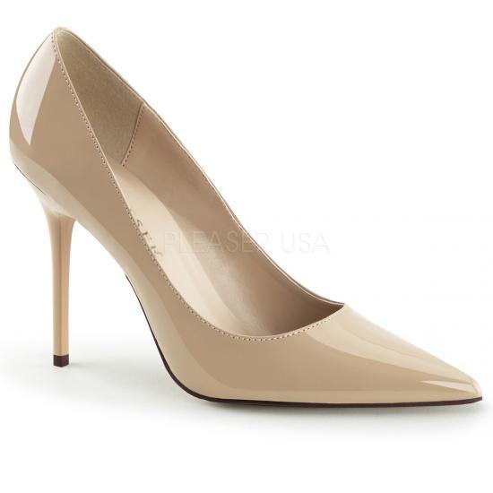 即納靴 エレガントなポインテッドトゥ 美脚ハイヒールパンプス 10cmヒール ヌードエナメル Pleaserプリーザー 大きいサイズあり 豊富なカラーバリエーシ…