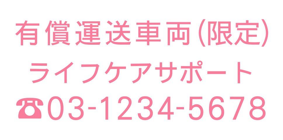 切り文字CY02-ピンク・TEL入(600mm×240mm)