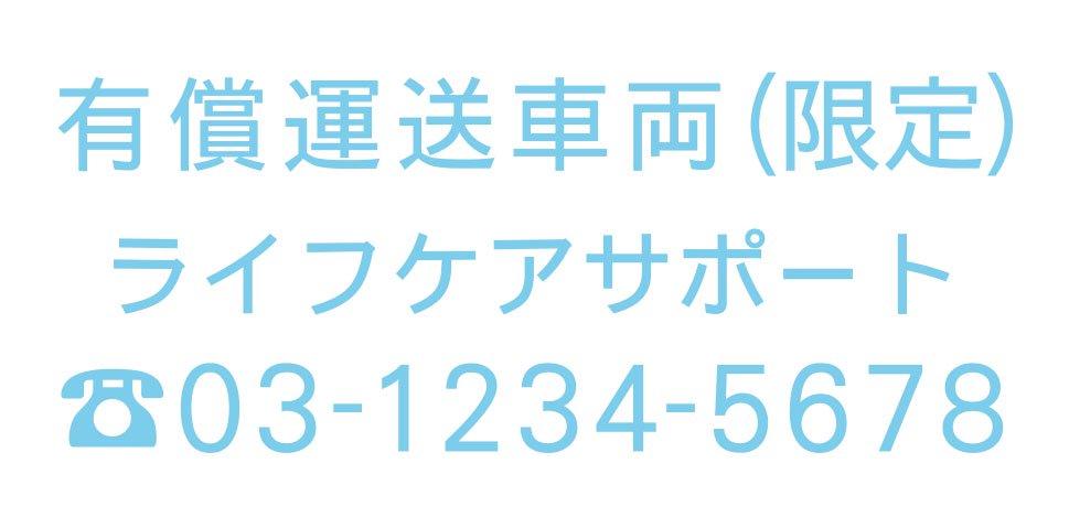 切り文字CY02-水色・TEL入(600mm×240mm)