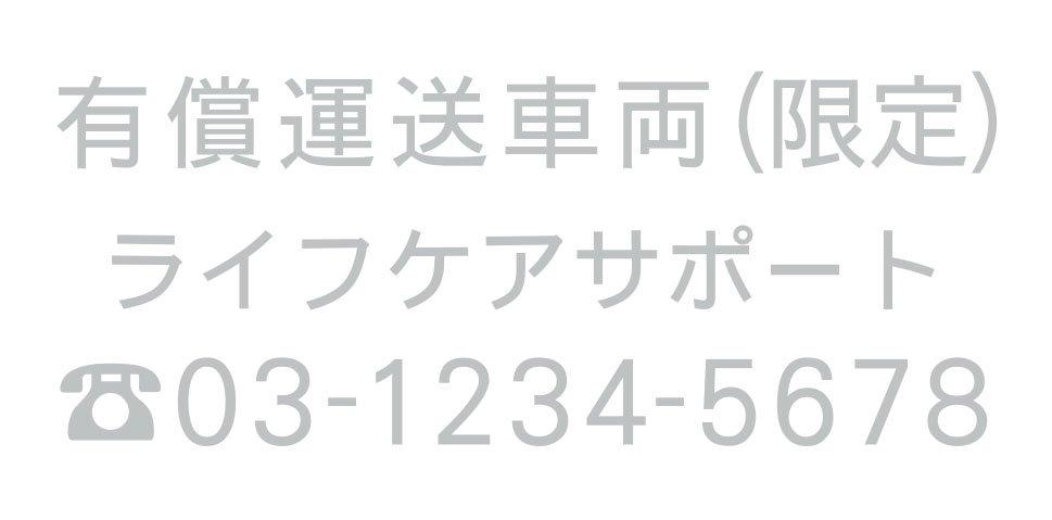 切り文字CY02-シルバー・TEL入(600mm×240mm)