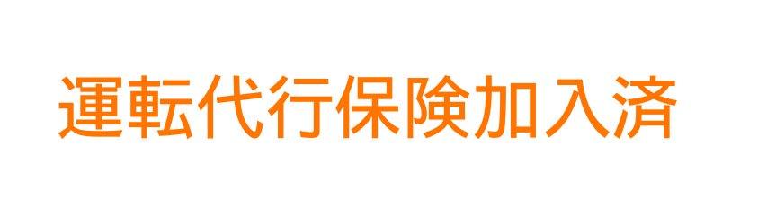 切り文字D05-オレンジ|運転代行保険加入済|500mm×50mm
