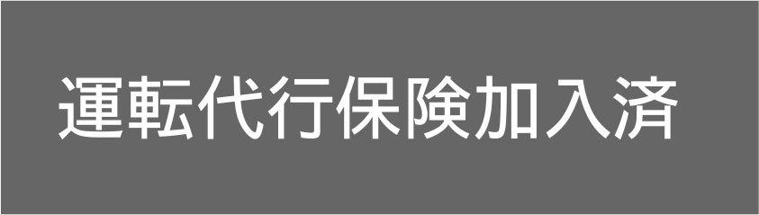 切り文字D05-白|運転代行保険加入済|500mm×50mm