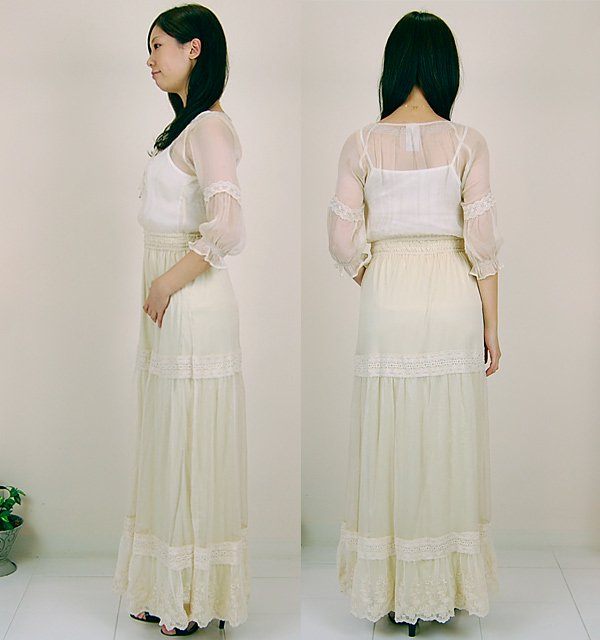 nana nadesico,�ʥǥ���,Flower embroidered long dress,����