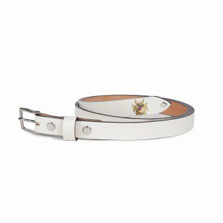 <img class='new_mark_img1' src='https://img.shop-pro.jp/img/new/icons11.gif' style='border:none;display:inline;margin:0px;padding:0px;width:auto;' />WOLF'S HEAD /TC STUDS LEATHER BELT - WHITE
