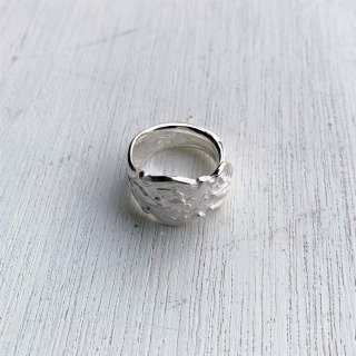 <img class='new_mark_img1' src='https://img.shop-pro.jp/img/new/icons14.gif' style='border:none;display:inline;margin:0px;padding:0px;width:auto;' />IRIAN (SPOON RING)-SILVER/WHITE FINISH