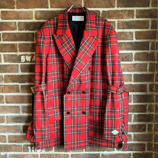 <img class='new_mark_img1' src='https://img.shop-pro.jp/img/new/icons11.gif' style='border:none;display:inline;margin:0px;padding:0px;width:auto;' />BELTED BONDAGE DOUBLE BREASTED JKT / RED