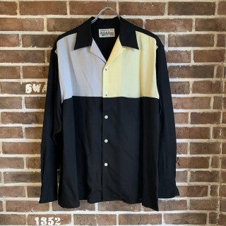 <img class='new_mark_img1' src='https://img.shop-pro.jp/img/new/icons11.gif' style='border:none;display:inline;margin:0px;padding:0px;width:auto;' />THREE-TONE 50'S SHIRT / GRAY-YELLOW