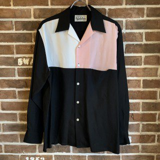 <img class='new_mark_img1' src='https://img.shop-pro.jp/img/new/icons11.gif' style='border:none;display:inline;margin:0px;padding:0px;width:auto;' />THREE-TONE 50'S SHIRT / WHITE-PINK