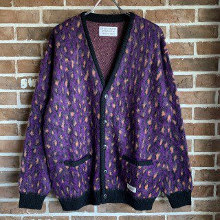 <img class='new_mark_img1' src='https://img.shop-pro.jp/img/new/icons11.gif' style='border:none;display:inline;margin:0px;padding:0px;width:auto;' />LEOPARD MOHAIR CARDIGAN(TYPE-1)/PURPLE