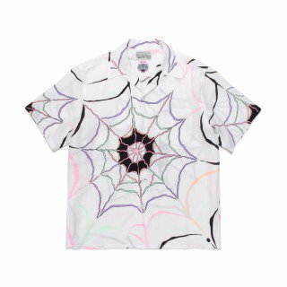 <img class='new_mark_img1' src='https://img.shop-pro.jp/img/new/icons11.gif' style='border:none;display:inline;margin:0px;padding:0px;width:auto;' />WOLF'S HEAD / HAWAIIAN SHIRT S/S - WHITE