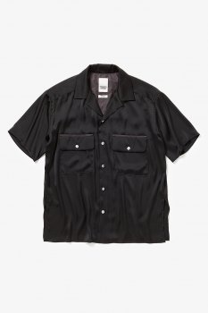 <img class='new_mark_img1' src='//img.shop-pro.jp/img/new/icons13.gif' style='border:none;display:inline;margin:0px;padding:0px;width:auto;' />【YSTRDY'S TMRRW】SATIN YANKEE SHIRT SS/ブラック