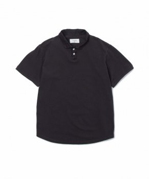 <img class='new_mark_img1' src='//img.shop-pro.jp/img/new/icons48.gif' style='border:none;display:inline;margin:0px;padding:0px;width:auto;' />【SANDINISTA】Overdyed Polo Shirt-Regular Fit/ブラック