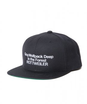 <img class='new_mark_img1' src='https://img.shop-pro.jp/img/new/icons48.gif' style='border:none;display:inline;margin:0px;padding:0px;width:auto;' />【ROTTWEILER】Deepinther Forest Snapback/ブラック