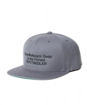 <img class='new_mark_img1' src='https://img.shop-pro.jp/img/new/icons48.gif' style='border:none;display:inline;margin:0px;padding:0px;width:auto;' />【ROTTWEILER】Deepinther Forest Snapback/グレー