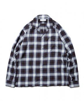 <img class='new_mark_img1' src='https://img.shop-pro.jp/img/new/icons13.gif' style='border:none;display:inline;margin:0px;padding:0px;width:auto;' />【ROTTWEILER】Rayon Check Open Collar LS Shirt/ブラック