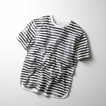<img class='new_mark_img1' src='https://img.shop-pro.jp/img/new/icons13.gif' style='border:none;display:inline;margin:0px;padding:0px;width:auto;' />【CURLY】FROSTED SS BORDER TEE