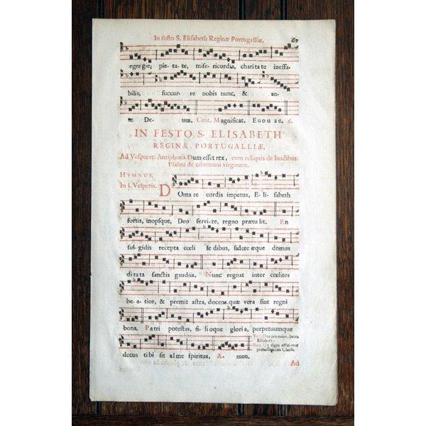 『グレゴリオ聖歌 18世紀 活版印刷』 一葉 N