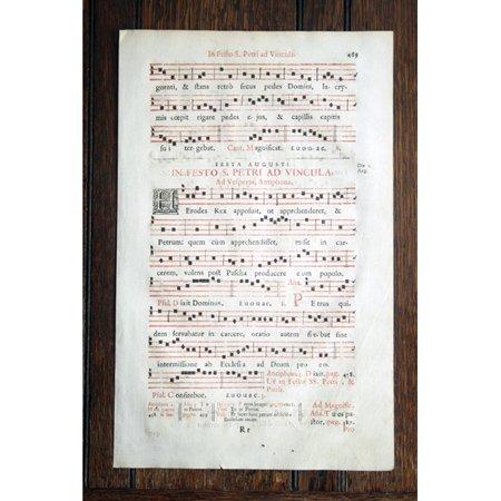 『グレゴリオ聖歌 18世紀 活版印刷』 一葉 P