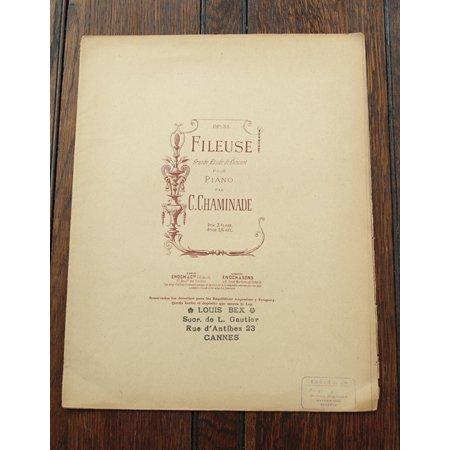 シャミナード,セシル 《糸を紡ぐ女 op.34 no.3》 『6つの演奏会用練習曲』より