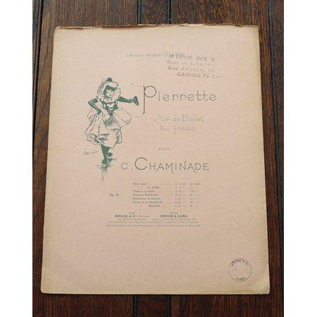 シャミナード,セシル 《女道化師 op.41》 ピアノ