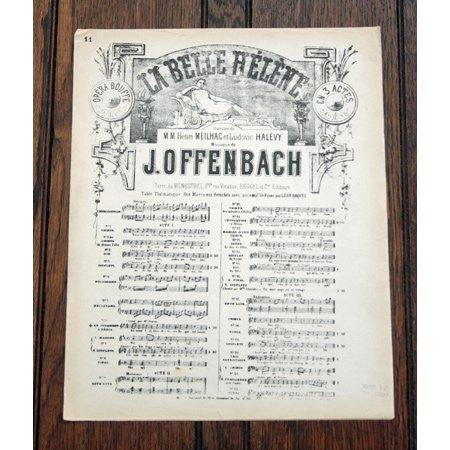 オッフェンバック,ジャック 「ヴィーナスへの祈願」 オペラ・ブッフ『美しきエレーヌ』より