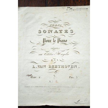 ベートーヴェン ピアノソナタ第2番 イ長調 作品2-2 ca.1829年