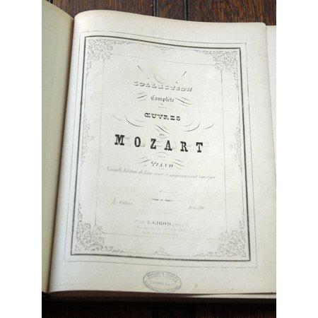 モーツァルト ヴァイオリンとピアノのためのソナタ第1-3集(ピアノ譜) ca.1855年
