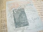 アンティーク楽譜 《モンマルトルで》