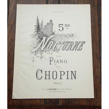 ショパン 《夜想曲第5番 嬰ヘ長調 作品15-2》 19世紀後半