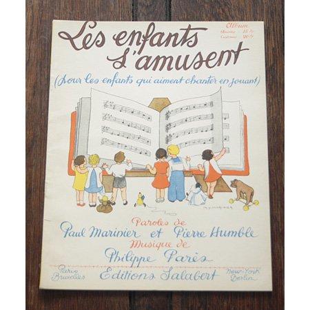 アンティーク楽譜 《子どもが楽しむシャンソン》 1932年