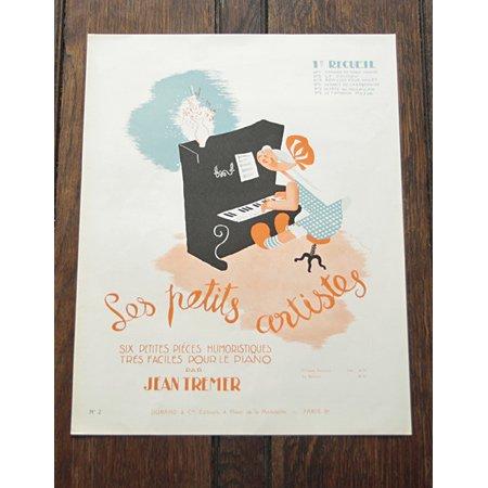 アンティーク楽譜《ちいさなアーティストたち》 1938年