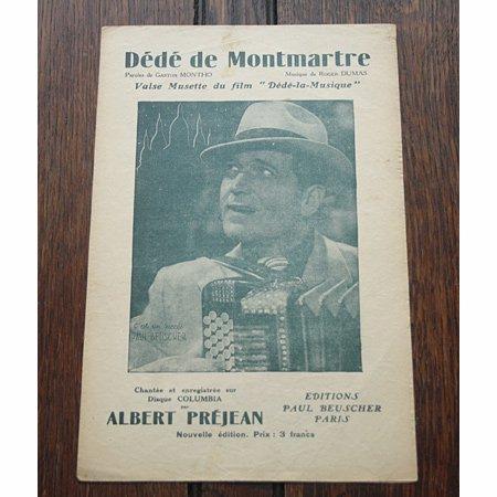 《モンマルトルのデデ》 アルベール・プレジャン