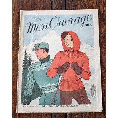手芸雑誌 《Mon Ouvrage N°16》 1950年1月号