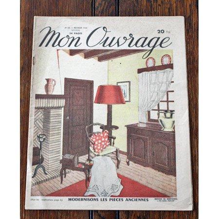 手芸雑誌 《Mon Ouvrage N°17》 1950年2月号