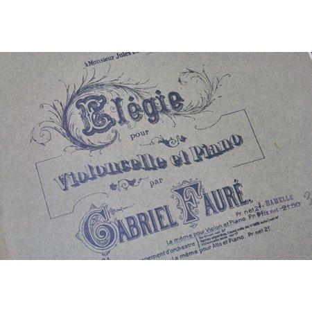 フォーレ,ガブリエル 《エレジー 作品24》 1881年