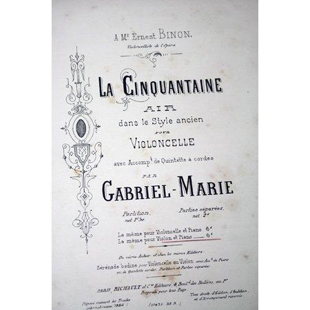 マリ,ガブリエル 《金婚式》 1886年