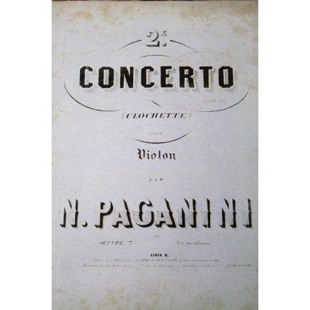 パガニーニ 《ヴァイオリン協奏曲第2番『ラ・カンパネラ』》 1850年頃