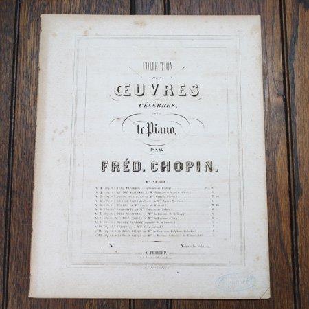 ショパン 3つの夜想曲 作品9-1〜3 ca.1860年